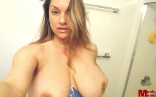 Monica Mendez happy 4th of July present her big bouncing boobs