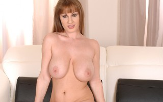 Curvy LaTaya Roxx Takes Out Her 36DD's To Tug On Her Nipples