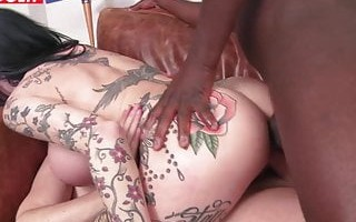 LETSDOEIT - Busty Tattooed Teacher Takes DP Lessons