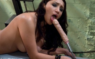 Amateur hot babe machine fucked in her mouth and pussy until she squeals and wiggles with full body orgasms.