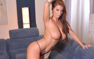 Busty Hungarian hottie Sheila Grant toy fucks herself hard