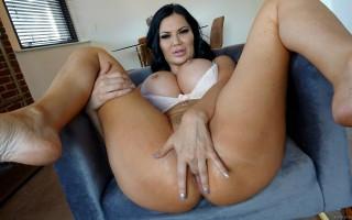 Busty British MILF Jasmine Jae anal fuck & thick creampie