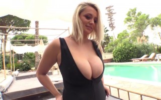 Emma Rachael Poolside Tease With Her Luscious Big Melons