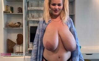 Erin Star Loose Shirt Jiggly Tits