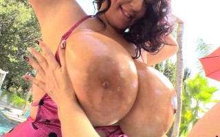 Subrina Lucia Hot Pink Hot Tub Lap Dance