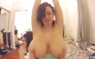 Lanas Big Boobies Getting Played by Hands on Webcam