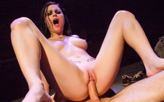 Hot Veruca James gets pounded on stage like a porno rockstar