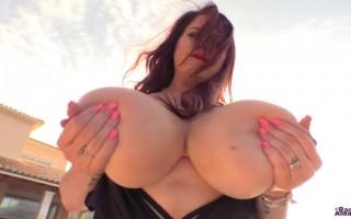 Busty Rachel Aldana Outdoor Glamour Shoot Revealing Her Perky Titties