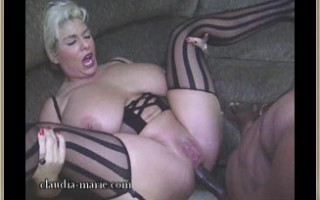 Huge Tit Whore Claudia-Marie\'s Asshole Destroyed By Big Black Cock