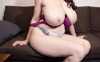 Cleo testing a selection of bras for her huge tits