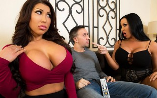 Sybil Stallone and August Taylor sharing a big cock