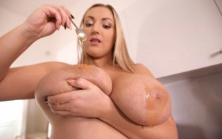 Honey All Over Krystal Swift's Big Boobs