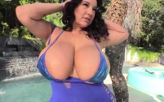 MILF Subrina Lucia So Proud to Show Her Two Pairs of Melons