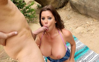 Alexis Fawx Caught in Cleavage Canyon