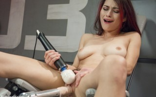 Goth Fucking! Hot Babe with great tits and sweet pussy gets plowed by long dicks and fucking machines twice her size!