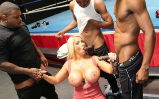 Alura Jenson gets gangbanged at the boxing gym