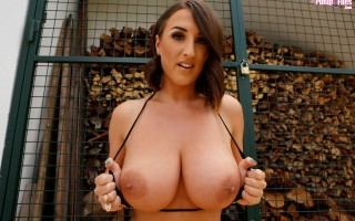 Stacey Poole in a sexy Spider Web Bikini