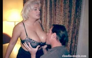 Big tit blonde gets mouth to jug resuscitation