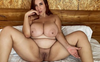In bed with curvy babe Mer