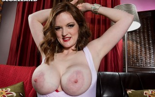 Bebe Cooper milking her big saggy boobs