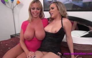 Amber and her girlfriend have some g/g action then their men get it on the action.