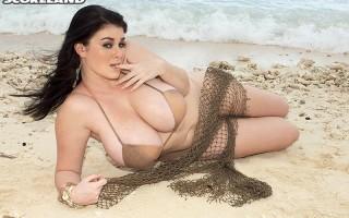Karla James on the beach at Grand Bahama Island