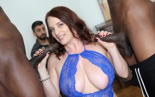 Maggie Green surprises her cuckold husband with two BBCs