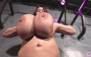 Leanne Crow very lusting when she uncovers her purple lingerie