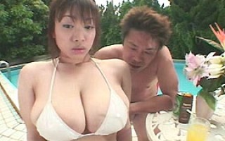Shoko Goto playing with her big natural tits