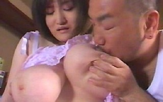 Busty asian Marina Matsushima having her tits licked