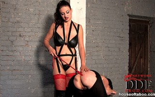 Nasty babe Sandy & her bound girlfriend in cage spanking