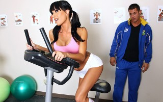 Gia Dimarco has been training her butt off. She's going to attempt to run a marathon, and she knows that she has to be in top shape. Luckily for her Danny Mountain is one motivated coach. He'll do whatever it takes to get her ready, and if that means havi