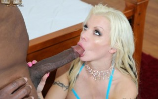 Hot slut Barbie Sins loves huge black cocks
