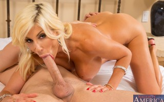 Puma Swede uses her hot cougar looks to seduce younger guy to fuck her tight pussy.