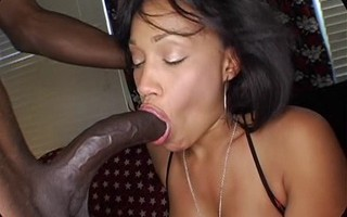 14 inch black cock facefuck 18 years old ebony babe and bang cunt
