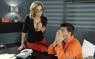 Smokin' hot Nikki Sexx, a big-titted attorney, deliberates with Ramon, her client, while the jury reviewing his case is hung. She tells him that she believes he's innocent but without an alibi or evidence working in his favor, he's fucked. He's probably g