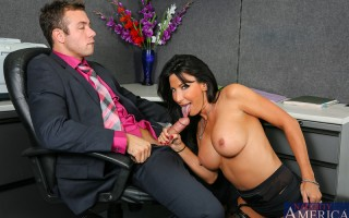 Lezley Zen find her employee Chad coming in late again. She's willing to let him keep his job as long as he goes above and beyond the call of duty. Part of going above and beyond includes fucking Lezley's pussy.
