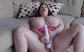 Horny girl with monster tits