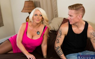 Hot cougar Alura Jenson is renting out one of her many houses. The potential renter is a college dude whose looking for a house for him and his bros to finish up the school year in. He swears to Alura that they are not big party animals, but she doesn