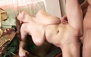 brunette with huge natural tits