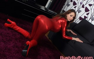 Stunning Busty Buffy acts cruelly with her buddy