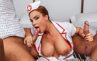 Patients Bill Bailey and Toni Ribas are sharing a hospital room after getting themselves into some horndog-related accidents. A nurse is coming to take good care of them, and both are hoping it will be hot Miss Foxxx from the day before. The boys get thei