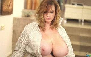 Lana Kendrick dances in this busty homage to Risky Business