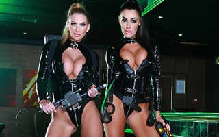 Someone's been running around causing chaos in a local club, so the owners had no choice but to call in the world's foremost experts in erotic apparitions, the Porn Busters! The two busty beauties can tell right away that the place has a porn star problem