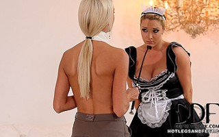 Mistress Lena Love Serves Victoria Her Dirty, Sweaty Feet