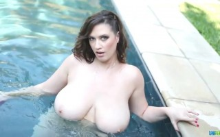 Lana Kendrick Bouncing Big Boobs and Flawless Body for You