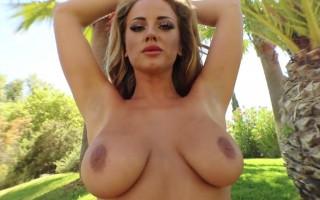 Lana Parker Slides Down Her Pink Bikini For You