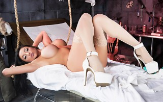 Dr. Frankenslut has finally created his masterpiece: the ultimate slut, Audrey Bitoni. When he wakes the busty beauty, though, he realizes that he's done the unthinkable and created a monster! His assistant Mick Blue decides to take advantage of the oppor