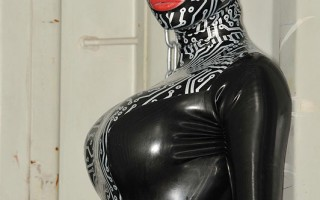 Latex Lucy Gets Chained, Flogged & Fucked With A Huge Dildo