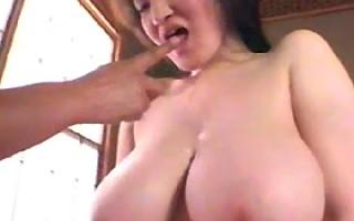 Busty asian Marina Matsushima playing with a guy